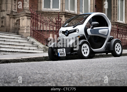 Renault Twizy Electric city car parked on a London Street - Stock Photo
