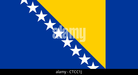 Flag of the Republic of Bosnia and Herzegovina. - Stock Photo
