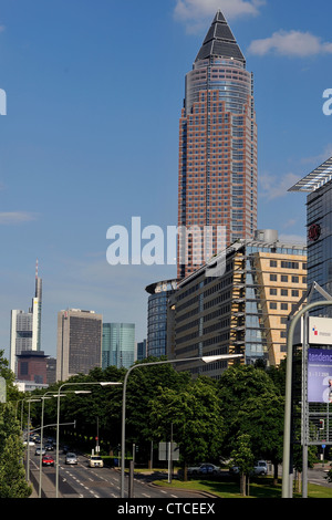 Messeturm in Frankfurt - Stock Photo