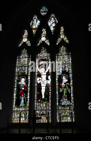 4113. Stained glass window, All Saints' Church, Godshill, Isle of Wight, UK - Stock Photo