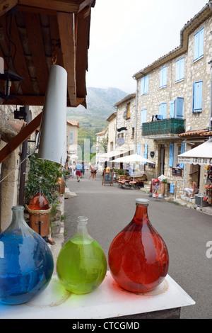 Parfumier (perfume) shop in Passage des Scornaches, Gourdon, Côte d'Azur, Alpes-Maritimes, Provence-Alpes-Côte d'Azur, - Stock Photo