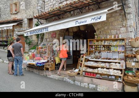Souvenir shop in Gourdon, Côte d'Azur, Alpes-Maritimes, Provence-Alpes-Côte d'Azur, France - Stock Photo