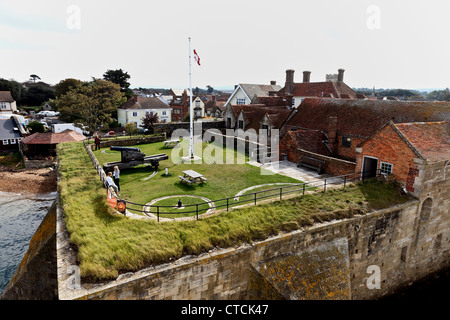 4175.The Castle, Yarmouth, Isle of Wight, UK - Stock Photo