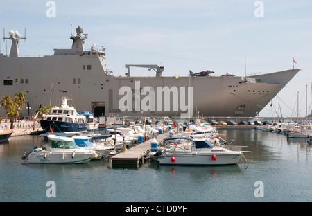 Cartagena marina & harbour southern Spain - Stock Photo