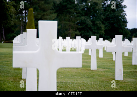 American second world war cemetery in Normandy, France - Stock Photo