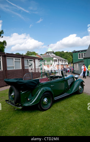 Veteran BMW car at the Bentley Drivers Day event at Brooklands museum in Weybridge, Surrey - Stock Photo