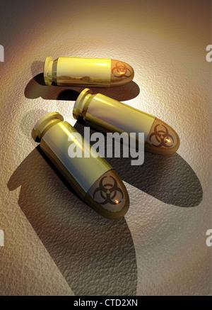 Biological warfare  conceptual artwork - Stock Photo