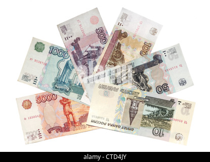 Russian rubles of 1997 - Stock Photo