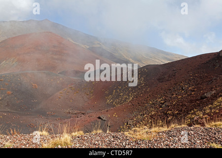 Lava field Mount Etna, Sicily, Italy - Stock Photo