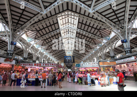 Spain, Valencia, Mercado Central, market, interior, - Stock Photo