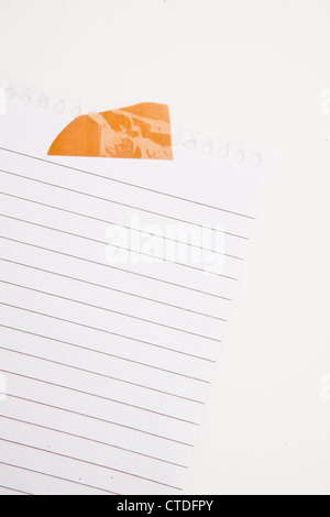 Paper blank with adhesive tape - Stock Photo