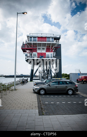 Netherlands, Amsterdam, June 2012 Former REM island radiostation in the Western Harbour Area. Photo Kees Metselaar - Stock Photo
