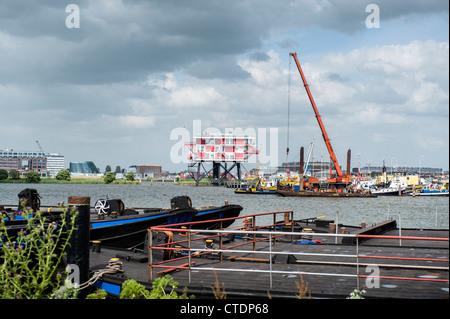 Netherlands, Amsterdam, June 2012 Former REM island radiostation in the Western Harbour Area. Photo Kees Metselaar - Stock Photo