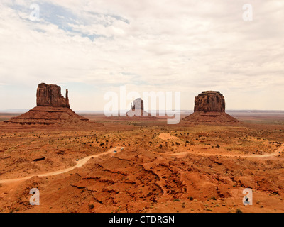 View of the Monument Valley Panorama which is a region of the Colorado Plateau. - Stock Photo