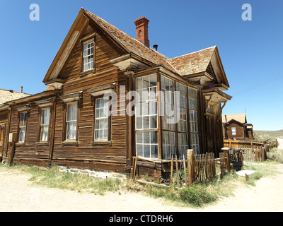 An old house in Bodie, a ghost town in California, United States. - Stock Photo