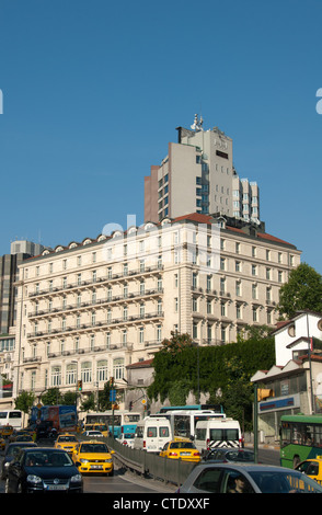 ISTANBUL, TURKEY. The historic Pera Palas Hotel in the Beyoglu district of the city. 2012. - Stock Photo