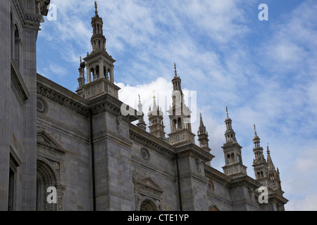 Exterior view of Cathedral in Como town centre, Lake Como, Northern Italy, Europe - Stock Photo