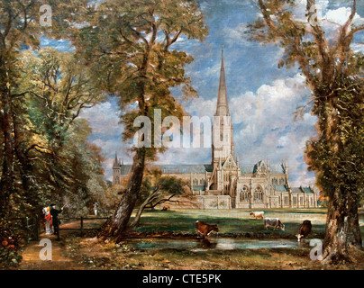 Salisbury Cathedral from the Bishop's Grounds 1825 John Constable English1776–1837 United Kingdom - Stock Photo