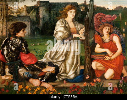 The Love Song 1868–77 by Sir Edward Burne-Jones  English 1833–1898 United Kingdom - Stock Photo
