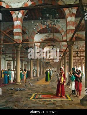 Prayer in the Mosque 1871 Jean Léon Gérôme French France  1824–1904 - Stock Photo