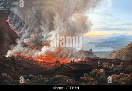The Eruption of Vesuvius 1824 Italy Johan Christian Dahl 1830 Norwegian 1788–1857 Norway - Stock Photo
