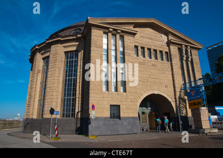 Alter Elbtunnel the Old Elbe tunnel exterior Sankt Pauli district Hamburg Germany Europe - Stock Photo
