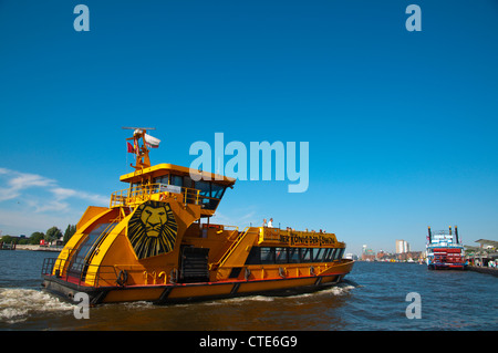 Ferry line number 62 at Landungsbrücken port area Hamburg Germany Europe - Stock Photo