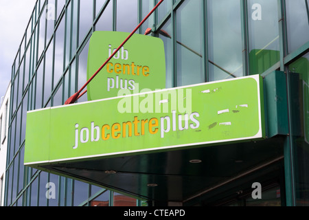Job centre plus sign for the job centre in Woking - Stock Photo
