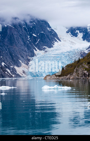 Northwestern Glacier in the Northwestern Fjord of the Kenai Fjords National Park in Alaska. - Stock Photo