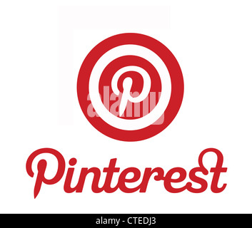 Pinterest - a pinboard style social photo sharing  website - EDITORIAL USE ONLY - Stock Photo