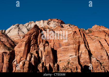 USA Utah, Great Arch of Zion in Zion National Park. - Stock Photo