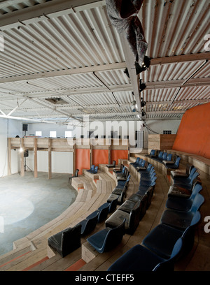 The Yard Theatre, London, United Kingdom. Architect: Practice Architecture, 2011. View from within seating. - Stock Photo