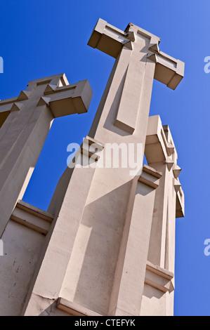 Three Crosses Hill Vilnius Lithuania - Stock Photo