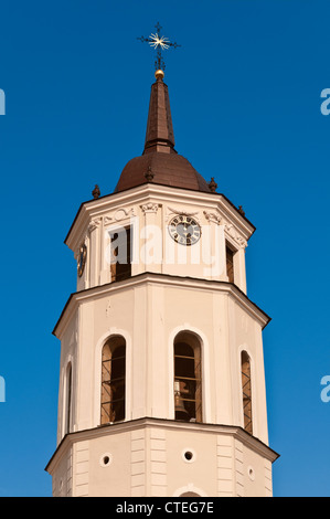 Cathedral Belfry Cathedral Square Vilnius Lithuania - Stock Photo