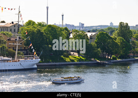 Views of Skeppsholmen Island,Positioned strategically at the Baltic Sea entrance to Inner Harbour,Stockholm,Sweden,Scandinavia - Stock Photo