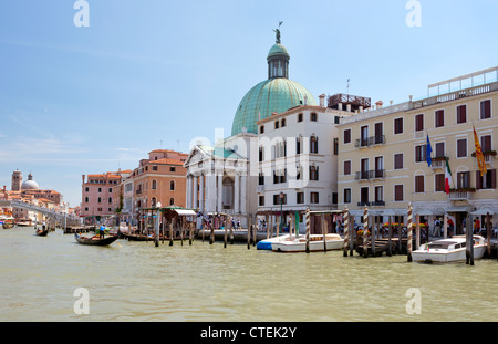 Cityscape taken on the Grand Canal Venice Italy - Stock Photo