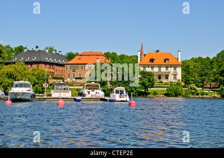 Djurgårdsbrunnsviken,a bay in central Stockholm,Sweden,together with the canal Djurgårdsbrunnskanalen forming the - Stock Photo