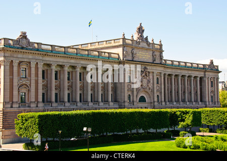 Stockholm's Parliament House,The building was designed by Aron Johansson and erected between 1897 and 1905,Stockholm,Sweden. - Stock Photo