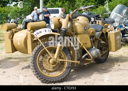 Military Motorcycles BMW R75 - Stock Photo