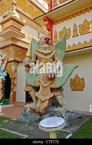 A Garuda, a large mythical bird, Dhammikarama Burmese Temple, Georgetown, Penang, Malaysia. - Stock Photo