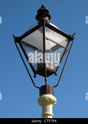 Old lantern, Carrog station, Llangollen Railway, North Wales, UK - Stock Photo