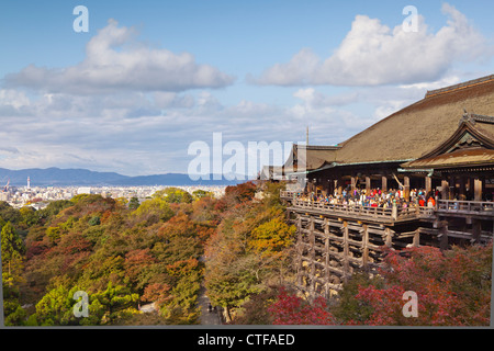 The temple of Kiyomizu-dera in Kyoto is one of japan's most visited sites. - Stock Photo