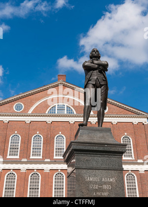 Samuel Adams, Faneuil Hall, Boston - Stock Photo
