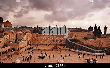 The Western Wall,Temple Mount, Jerusalem, Israel - Stock Photo