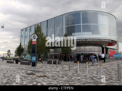 Emirates Greenwich Peninsula Cable Car Terminal - Stock Photo