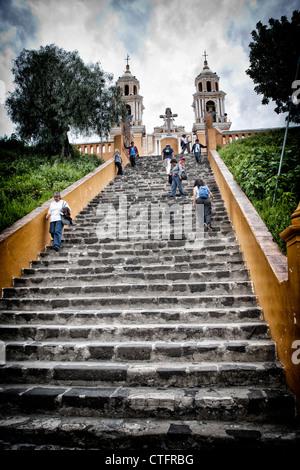 Church of Neustra Senor de los Remedios or Our Lady of Remedios - Stock Photo