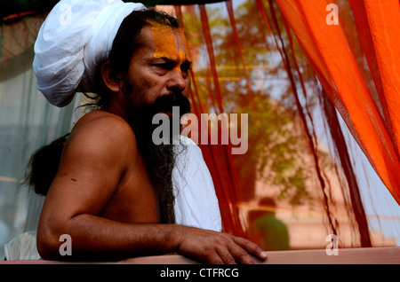 Indian priest- Sadhu - Stock Photo