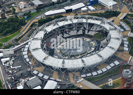 Aerial photography of London 2012 Olympic Stadium - Stock Photo