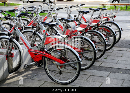 Call a bike rental bicycles, Berlin - Stock Photo