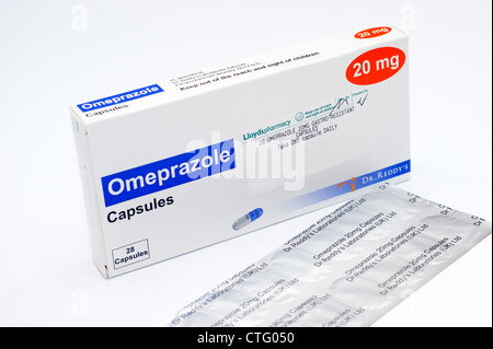 As Gastro capsules containing omeprazole as gastro resistant granules stock